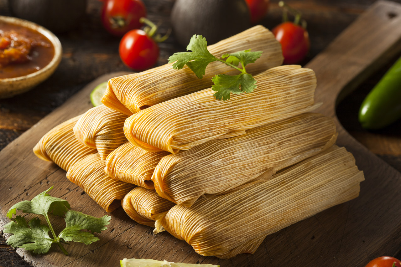 homemade tamales - Traditional Mexican Christmas Dinner